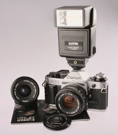 Canon AE-1 program / Canon FD 1.8/50 mm / Canon FD 2.8/28 mm / Sunpack 30DX