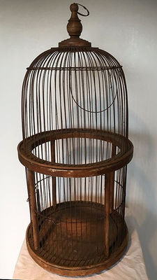 Large bird cage, 72 cm high, 1st half 20th century