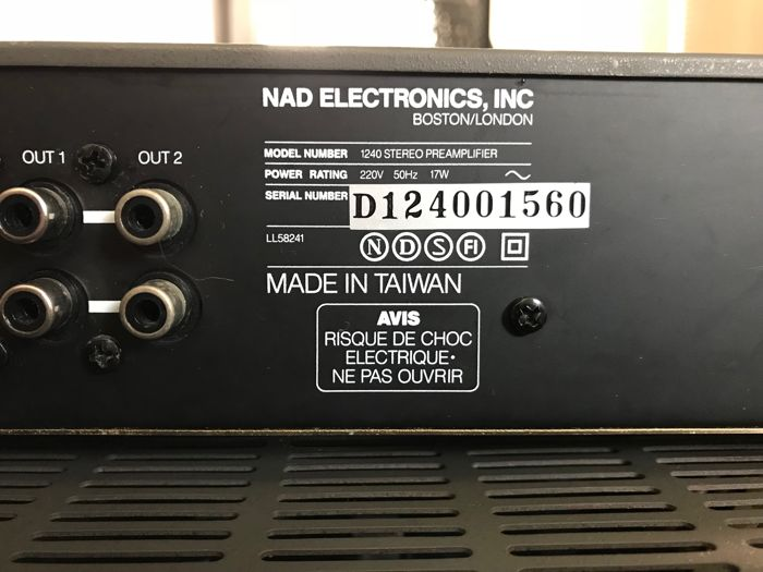 NAD Preamplifier 1240 - NAD Power Amplifier 2240PE - Catawiki