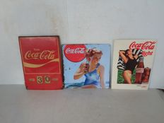 Coca Cola advertising sign with month and date indication ca. 1955 1975 1987
