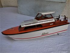 Large old Model ship / yacht with rescue boat - brand Schuco