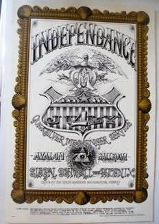 "Quicksilver Messenger Service ""Independance""  Family Dog  Poster San Francisco Rick Griffin 1967"