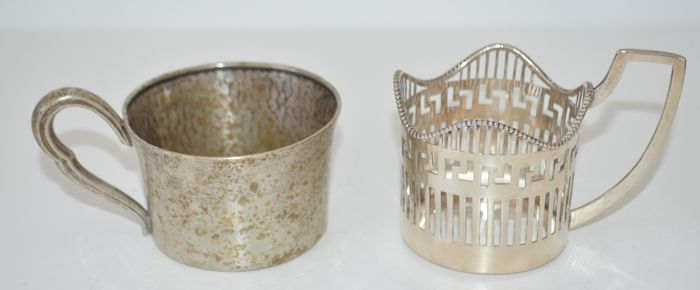 Silver drinking cup and drink holder, Netherlands/Germany