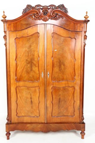 A large mahogany linen closet, the Netherlands, circa 1840