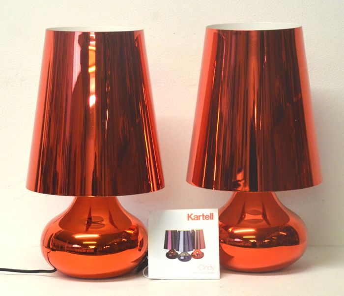 Ferruccio Laviani for Kartell - Pair of 'Cindy' table lamps - like NEW display items