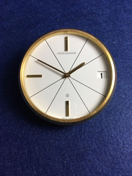 Jaeger-leCoultre 8 days deskclock with date from the 1960's