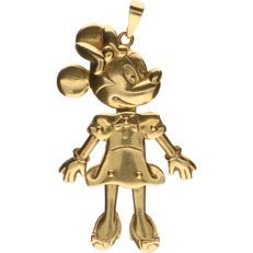 18 kt Yellow gold pendant in the shape of Minnie Mouse - Length:: 45.9 mm