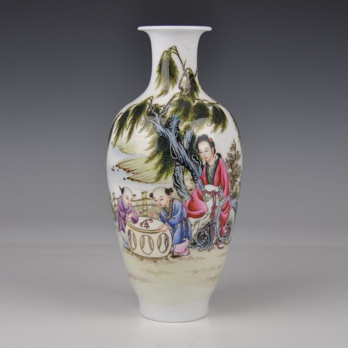 A White Porcelain Vase - China - 21st century