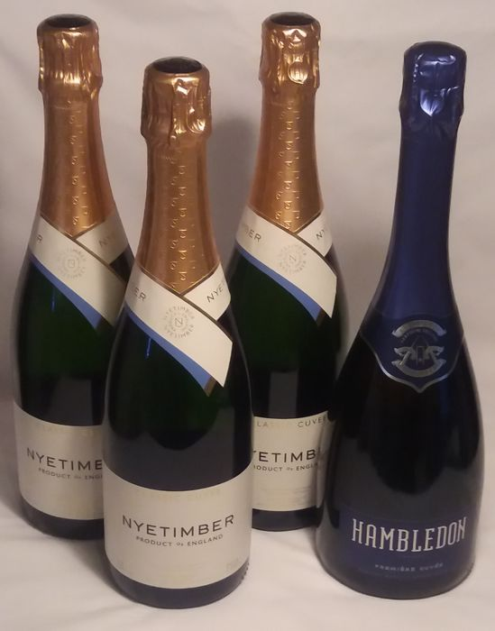 2007 Nyetimber - Classic Cuvee x 3 bottles - Hambledon Premiere Cuvee x 1 bottle / English Sparkling Wine - 4 bottles overall