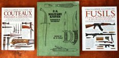 1 book Poignards militaires US M.H.Cole (1st edition volume IV) & 2 encyclopedias on guns and knives