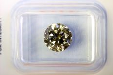 * NO RESERVE PRICE * - Fancy INTENSE Yellowish GREEN - 2.07 ct