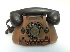 Decorative copper telephone, first half 20th century