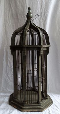 Decorative brocante bird cage, 2nd half 20th century