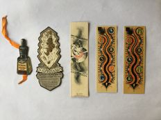 Book objects; Lot with 10 bookmarks of well-known brands - 1st half 20th century