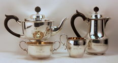 Antique Silver Plate Tea / Coffee Service Set, By Goldsmiths & Silversmiths Co, London 1938