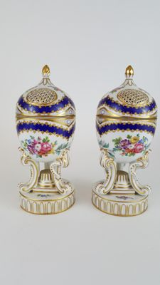Pair of French Sevres style Potpourri pots