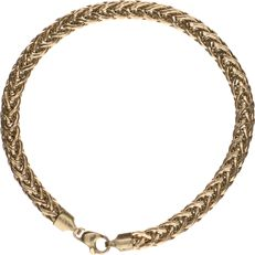 14 kt Yellow gold herringbone link bracelet - Length: 19.5 cm