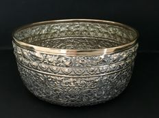 Solid silver Buddhist Monk Alm Bowl - Thailand - 19th century