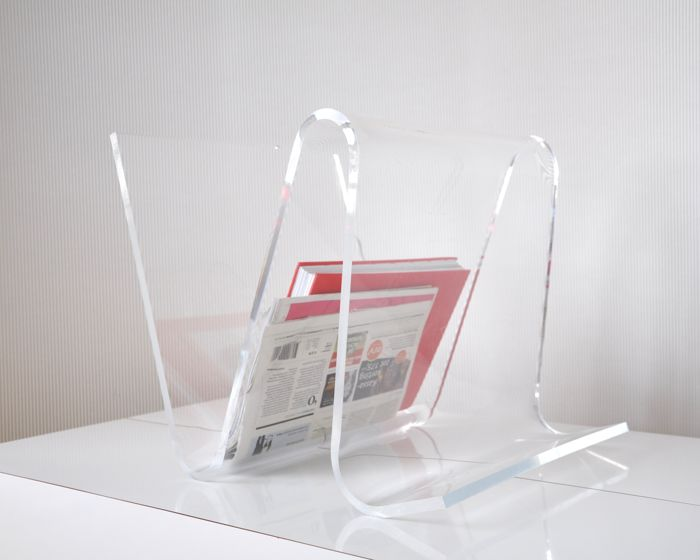 Guzzini - Heavy perspex magazine holder