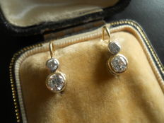 Gold Earrings with 0,90 ct Diamonds