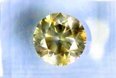 Fancy VIVID Greenish Yellow -  3.01 ct - SI2 - * NO RESERVE PRICE *