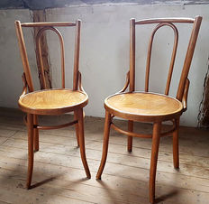 Two dining room chairs in Thonet style