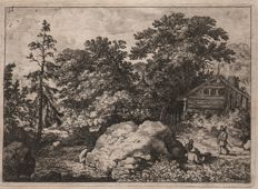 Allaert van Everdingen: ( 1621 - 1675) -The Hill - Hollstein 100 - Ca. 1650