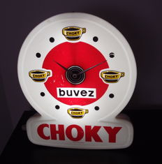 Advertising clock 'Choky' - 1960s
