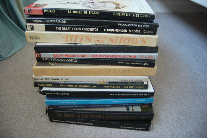 Lot - 16 Classical LP music box sets