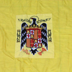 Flag of Spain with Coat of Arms of the Eagle of San Juan Embroidered in the Centre.