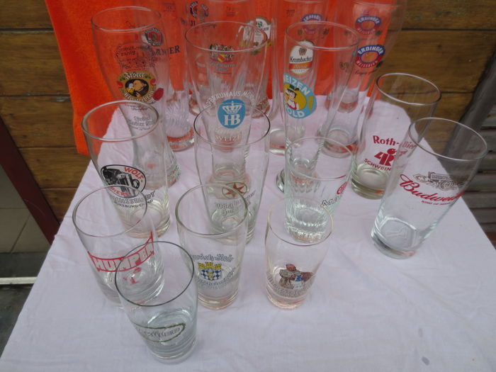 21 beer glasses from Germany - beer glass - Germany