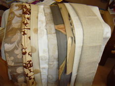 Lot of 10 x interior fabric scraps and samples - 2nd half of 20th century - France