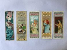 Book objects; Lot with 7 bookmarks of well-known brands - 1920s / 1930s