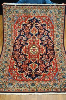 Hand-knotted original Persian carpet oriental Kashan approx. 178x117 cm In excellent condition, Iran, fine knotting