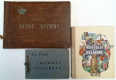 Chromolithographs; Lot of 3 albums with historical chromolithographs - 1937/1950