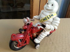 Vintage Michelin Man ( Bibendum) on Motorcycle