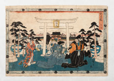 Original print by Utagawa Hiroshige I (1797-1858) - Opening act from the series Chushingura (historical account of the 47 ronin) - Japan - ca. 1843-1847