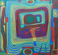 Friedensreich Hundertwasser (after) -The blood that flows in a circle and I have a bicycle