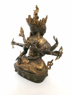 Bronze alloy Ushnishavijaya - Tibet - end 20th century (23 cm)