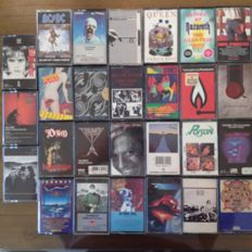 27 Cassettes With Great Bands From The 70'S And 80'S