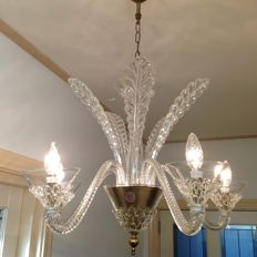Alberto Seguso (Attri.)  - Murano - 5-light chandelier