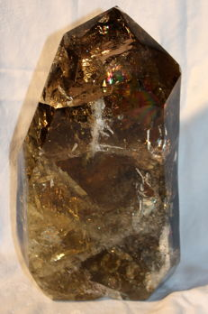 Beautiful smoky quartz point with Citrine - 250 x 130 x 60 mm - 3.5 kg