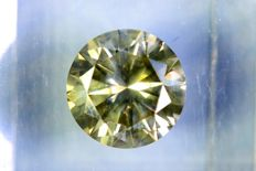Fancy VIVID Greenish Yellow - 1.98 ct - SI2 - * NO RESERVE PRICE *