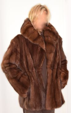 Fantastic and stylish jacket made of the best Russian sable with hood