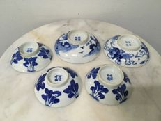 Porcelain B/W Covers - China - 19th Century.