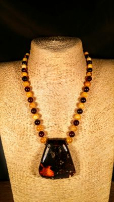100% Genuine Baltic Amber necklace, length 49 cm