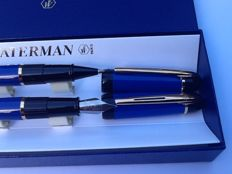 Waterman fountain pen and roller pen set
