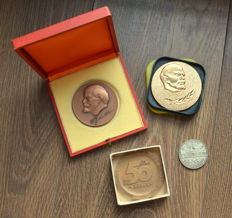Russia/USSR - 4 Table Medals with V.I. Lenin