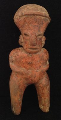 Pre-Columbian pottery Nayarit standing figure - Mexico - 19 cm