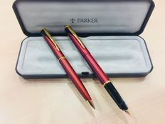 Suuny Parker fountain pen with red GT inflexion and pen set - very pleasant